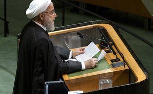 Le président iranien Hassan Rohani à l'Assemblée générale de l'ONU.