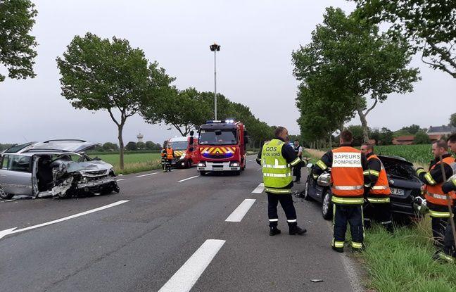 Deux véhicules se sont percutés près de Somain.
