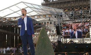 Stéphane Bern pendant le concert du 14 juillet 2018 à Paris