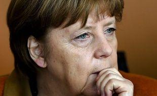 Angela Merkel assiste à la réunion hebdomadaire du gouvernement, le 15 mars 2017.