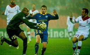 Le gardien lillois Steeve Elana lors du match de Ligue des champions contre le BATE Borisov.