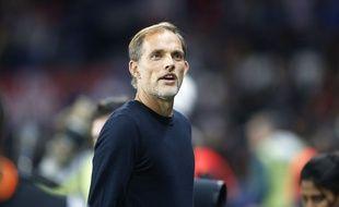 Thomas Tuchel, l'entraîneur du PSG, lors de Paris-Saint-Etienne, le 114 septembre 2018.