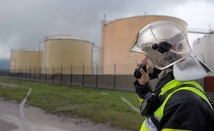 exercice au port aux pétroles à Strasbourg.(Archives)