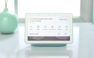 La tablette qui a avalé une enceinte intelligente: Google Home Hub.