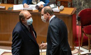 Eric Dupond-Moretti et Jean Castex à l'Assemblée le 8 juin 2021.
