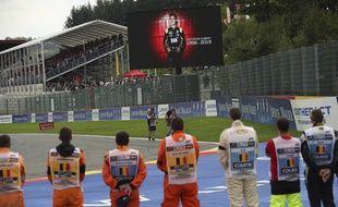 Une minute de silence observée avant le départ du GP de Spa-Francorchamps en la mémoire d'Anthoine Hubert, le 1er septembre 2019.