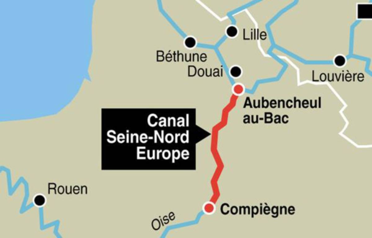 Le tracé du canal Seine-Nord Europe – 20 Minutes