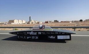 La voiture Heol lors de la course à Abu Dhabi en 2014.
