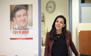 Sophia Chikirou au siège du Front de gauche de Jean-Luc Melenchon en octobre 2016.