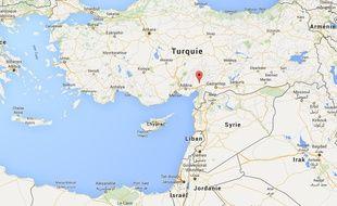 Carte de localisation de Karatepe, en Turquie.