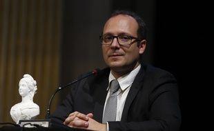 Samuel Mayol, le directeur de l'IUT de Saint-Denis, lors d'une remise de prix, le 27 octobre 2015 à Paris.