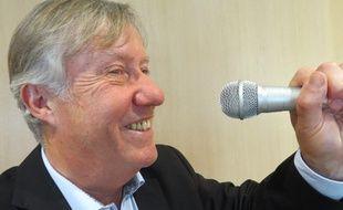 Yannick Bigaud, le speaker de la Beaujoire jusqu'à la fin de la saison.