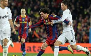 Le défenseur madrilène Sergio Ramos lors du Clasico contre Barcelone, le 29 novembre dernier.