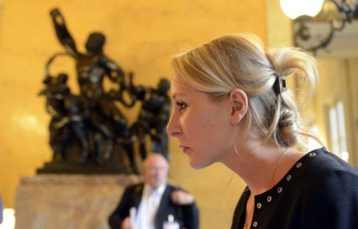 """La députée du Front national, Marion Maréchal-Le Pen, dit avoir été """"séduite"""" par Nicolas Sarkozy et plaide pour """"l'union des droites"""", mardi dans un entretien avec Présent, le quotidien catholique-traditionaliste d'extrême droite. – Eric Feferberg afp.com"""