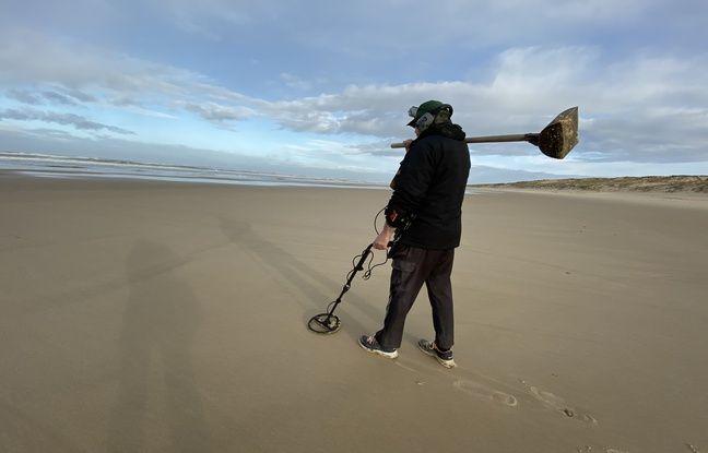 Ce ramasseur de métaux du Porge dit voir du monde sur la plage, tôt le matin, ce qui est plutôt inhabituel à cette époque.