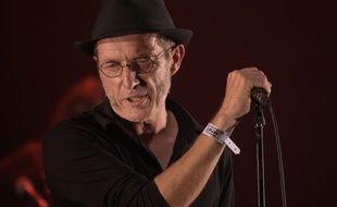 Miossec en concert lors du festival des Francofolies de la Rochelle, le 12 juillet 2014.