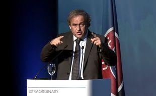 Platini, lors de son discours à Athènes