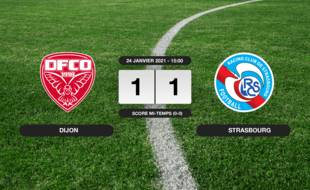 Dijon - RC Strasbourg: Dijon et le RC Strasbourg font match nul 1-1