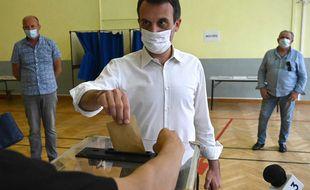 Florian Philippot a voté ce dimanche à Forbach, en Moselle.