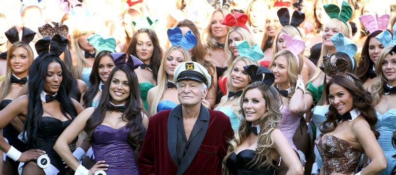 Hugh Hefner au Playboy Mansion en 2013.