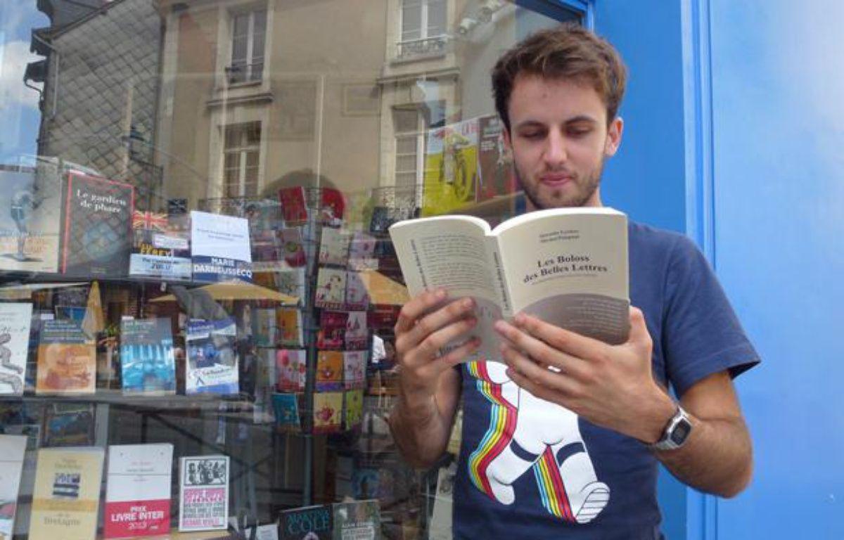 Quentin Leclerc, étudiant rennais de 22 ans, coauteur du livre Les Boloss des belles lettres. – Jérôme Gicquel/APEI/ 20 MINUTES