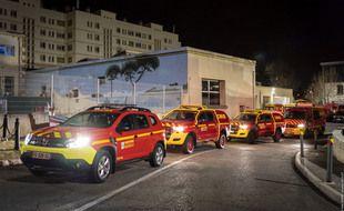 Une équipe de marins-pompiers de Marseille a été envoyé en Moselle pour aider à faire face à l'épidémie de coronavirus