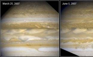 Evolution de l'atmosphère de Jupiter...