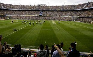 Près de 50.000 personnes se sont rendues à la Bombonera pour un simple entraînement de Boca Junior, le 22 novembre 2018 à Buenos Aires.