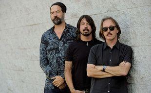 Dave Grohl, Krist Novoselic et Pat Smear en 2014.