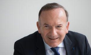 Pierre Gattaz, le patron du Medef, lors d'une conférence de presse à Munich, en Allemagne, le 30 mars 2016.
