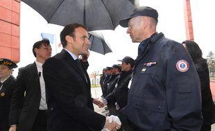 Emmanuel Macron le 6 mars 2018 à Agen pour présenter sa réforme pénale.