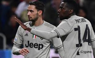 Blaise Matuidi a essuyé des cris de singe pendant Cagliari-Juventus, le 2 avril 2019.