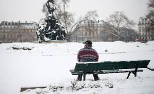 Le 22 janvier 2019, à Paris (12e), quelques centimètres de neige sont tombés en une matinée.