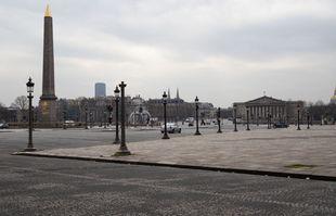 A Paris, le 17 mars 2020, lors du premier jour de confinement général dans la ville désertée, à la suite de la crise du coronavirus.