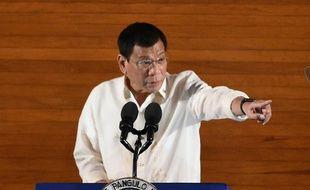 Le président philippin, Rodrigo Duterte, à Manille le 25 juillet 2016