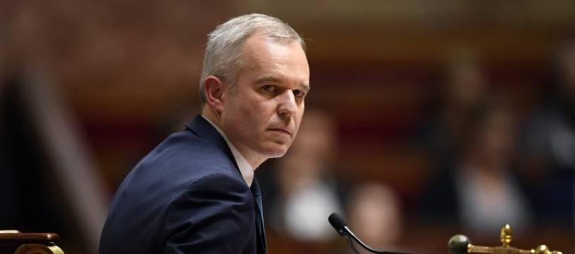 François de Rugy sur son perchoir de l'Assemblée nationale.