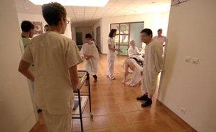 Service psychiatrie du Centre hospitalier Belair à Charleville-Mezieres (Ardennes), en juin 2005.