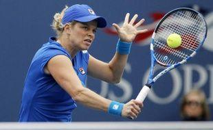 La joueuse de tennis belge Kim Clijsters, lors de sa demi-finale à l'US Open face à Venus Williams, le 10 septembre 2010.