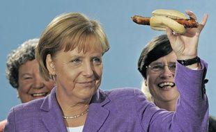 Angela Merkel lors de la campagne électorale de 2009.