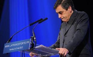 François Fillon au meeting de Nicolas Sarkozy à Nantes le 2 mai 2012.