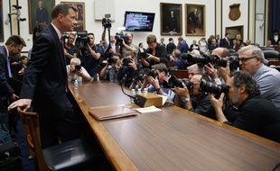 L'arrivée de l'agent du FBI Peter Strzok au Congrès américain, le 12 juillet 2018.