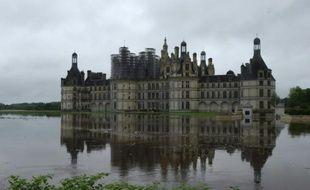 Le château de Chambord, dans le Loir et Cher, touché par la crue du fleuve royal