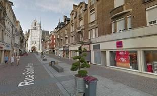 La rue de saint-André, au centre ville de saint-Quentin, où le corps a été retrouvé.