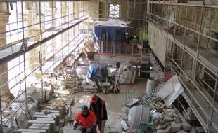 Le chantier va se poursuivre jusqu'au printemps 2017 avant une mise en service du centre des congrès en 2018.