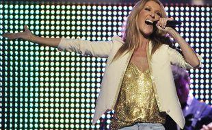 Céline Dion sur scène le 1er juin 2012 aux Etats-Unis.
