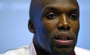 Le champion olympique LaShawn Merritt s'est adressé aux médias le 6 octobre 2011 après avoir gagné en appel contre le CIO pour pouvoir participer aux JO de Londres en 2012.
