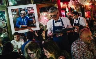 Au cabaret Chez Michou, le 26 janvier 2020.