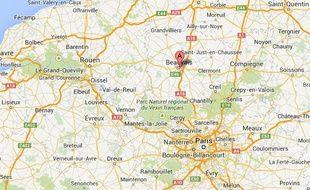 Google map de Beauvais (Oise).