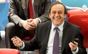 Le Président de l'UEFA, Michel Platini, le 1 mars 2011