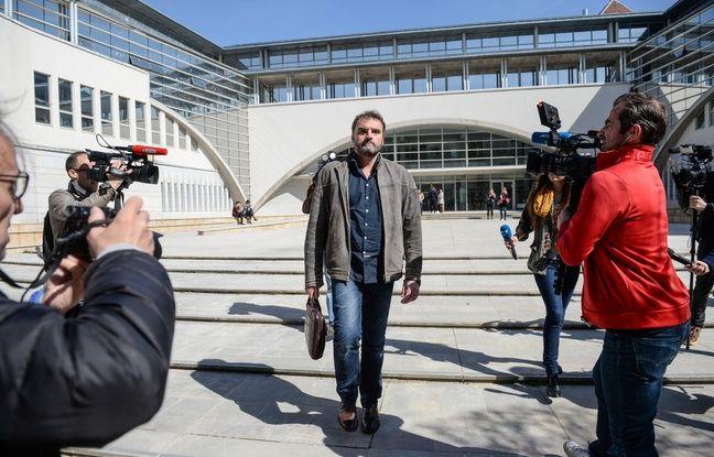 Le docteur Frédéric Péchier devant la la cour d'appel de Besançon le 29 mars 2017.